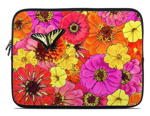 Butterfly Floral Laptop Cover