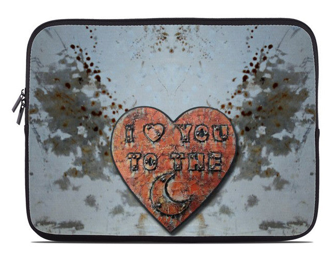 I Love You to the Moon Laptop Cover