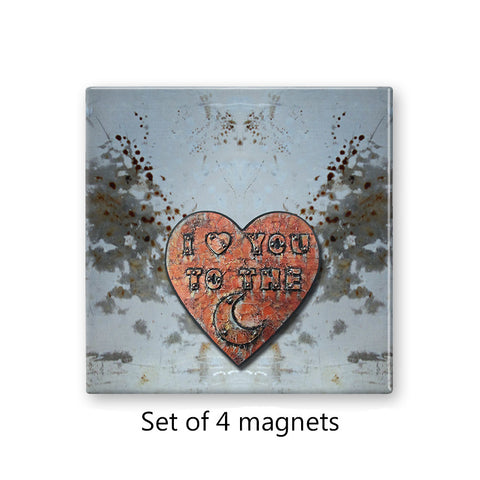 I Love You to the Moon Magnet Set