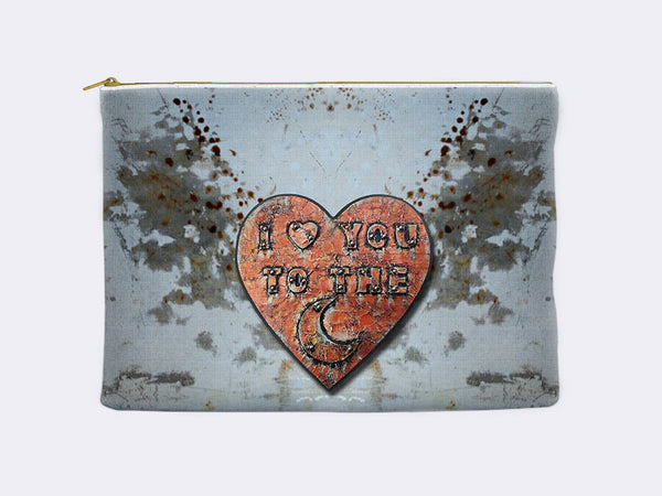 I Love You to the Moon Zippered Pouch