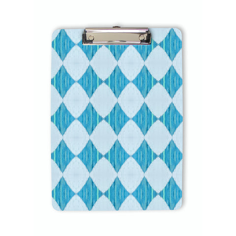 Ikat Style Diamond Pattern Clipboard in blue