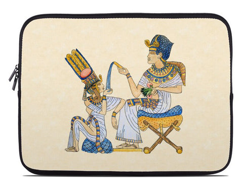 King Tut with Queen Ankhesenamun Laptop Cover
