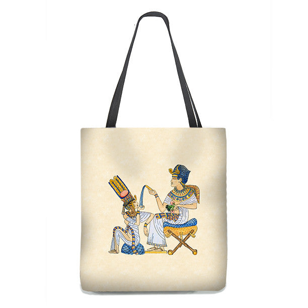 King Tut Tote Bag, with Queen Ankhesenamun