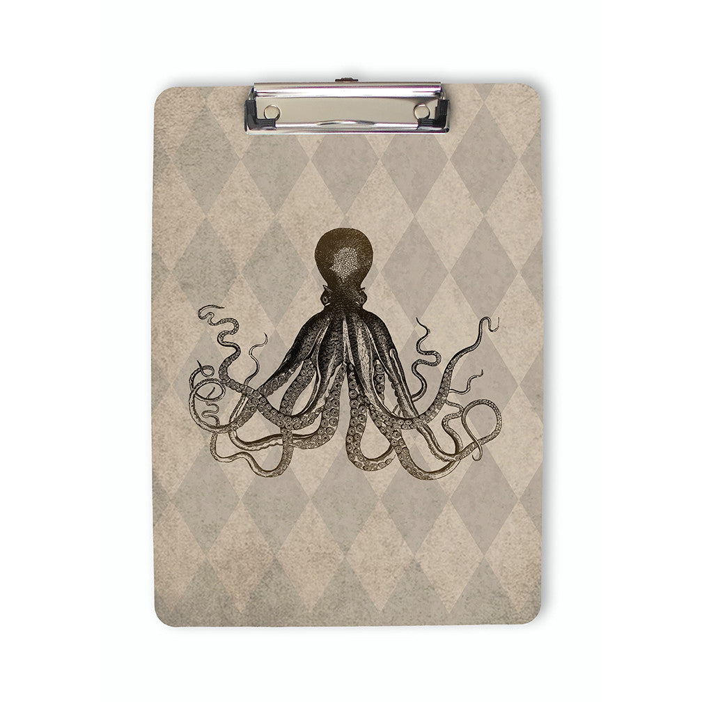 Vintage Style Octopus Clipboard