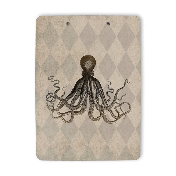 Vintage Style Octopus Clipboard back