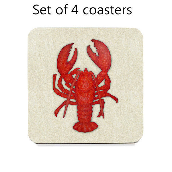 Lobster Coasters, set of 4