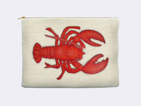 Lobster Zippered Pouch