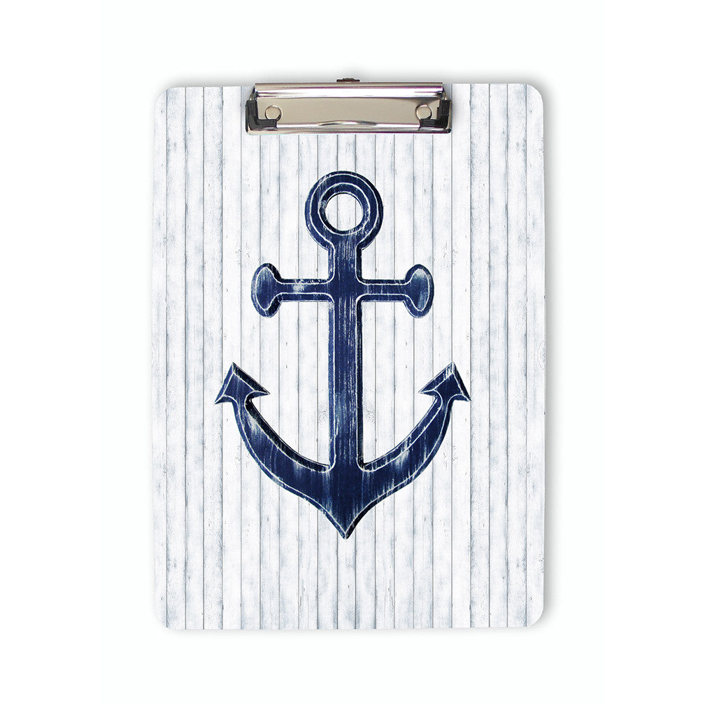 Navy Blue Anchor Clipboard front