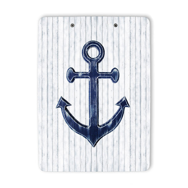 Navy Blue Anchor Clipboard back