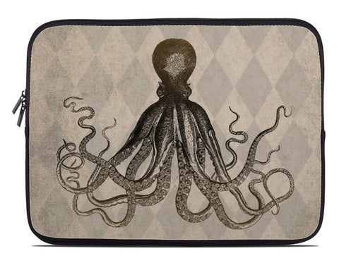 Vintage Style Octopus Laptop Cover