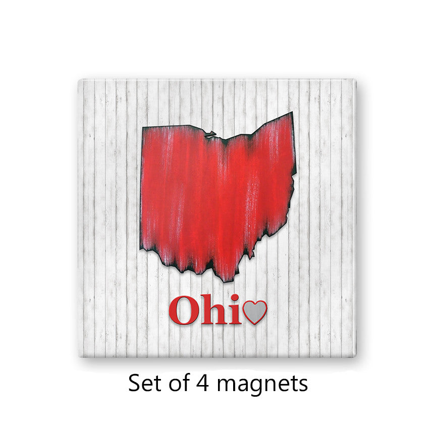 State of Ohio Magnet Set of 4