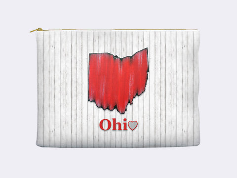 Ohio State Map Carry-All Pouch