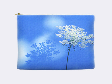 Queen Ann's Lace Floral Zippered Pouch