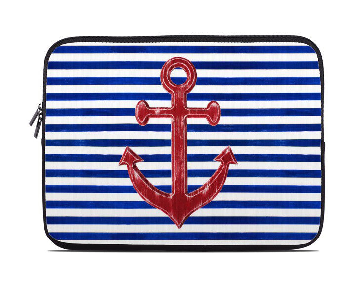 Red Anchor Nautical Laptop Cover