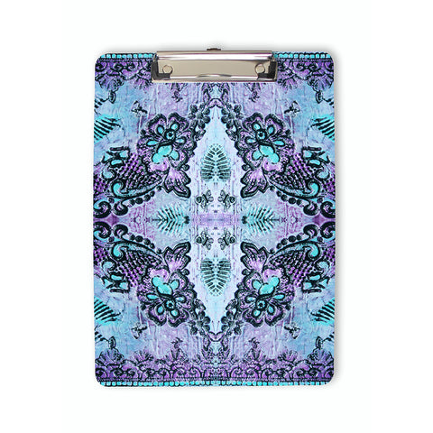 Bohemian Roses Clipboard in violet