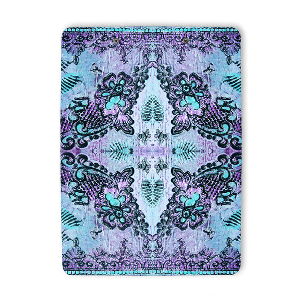 Bohemian Roses Clipboard in violet back