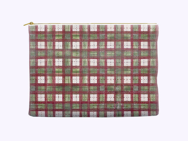 Cosmetic Bag in Rustic Christmas Plaid