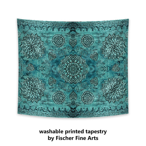 Bohemian Tapestry in teal print