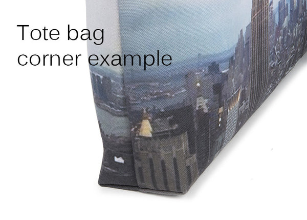 tote bag corner example