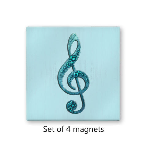 Treble Clef Musical Magnet Set