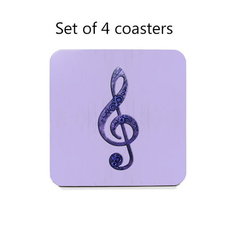 Treble Clef Coaster Set