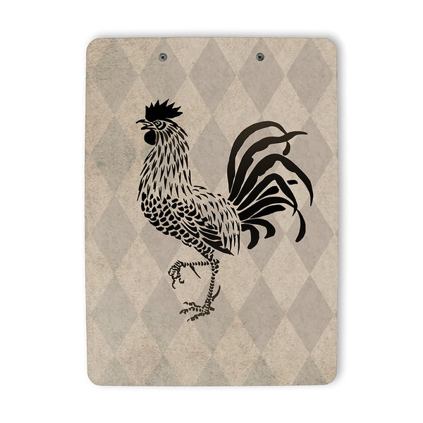 Vintage Style Rooster Clipboard back
