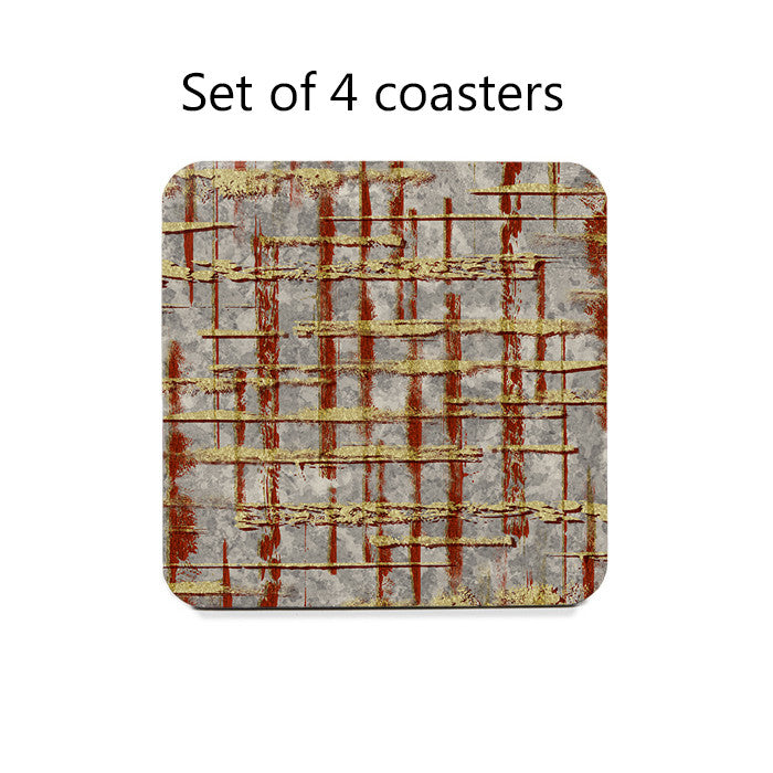 Abstract Lines Coaster Set
