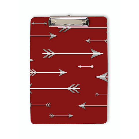 Arrows Clipboard in red