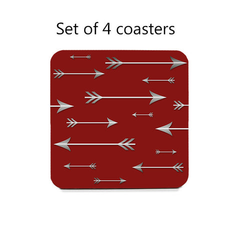 Arrows Coaster Set in red or blue