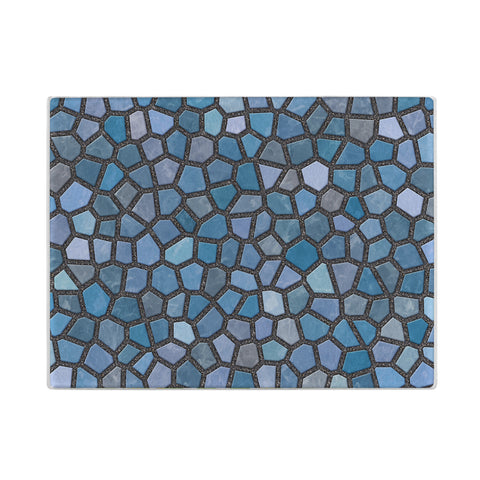 Faux Mosaic Glass Cutting Board in assorted darker colors