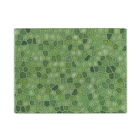 Geometric Glass Cutting Board in assorted colors
