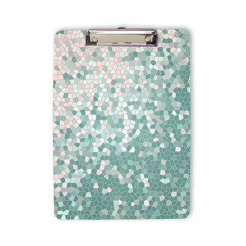 Mosaic Pattern Clipboard in pink and mint