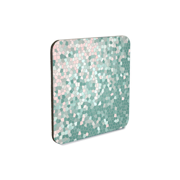 Abstract Mosaic Style Coaster Set in two color schemes