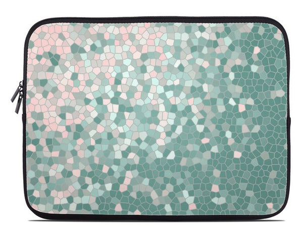 Mosaic Pattern Laptop Cover in two color variations