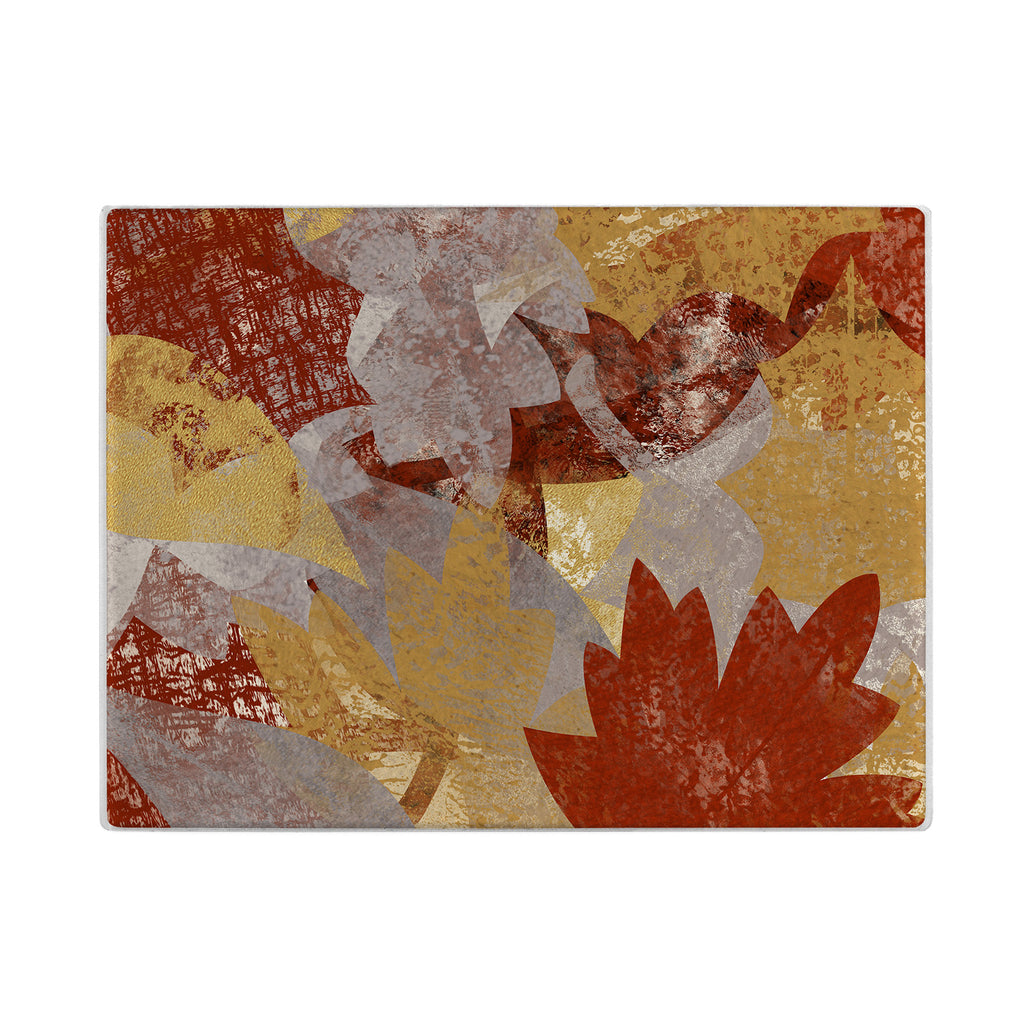 Fall Leaves Glass Cutting Board