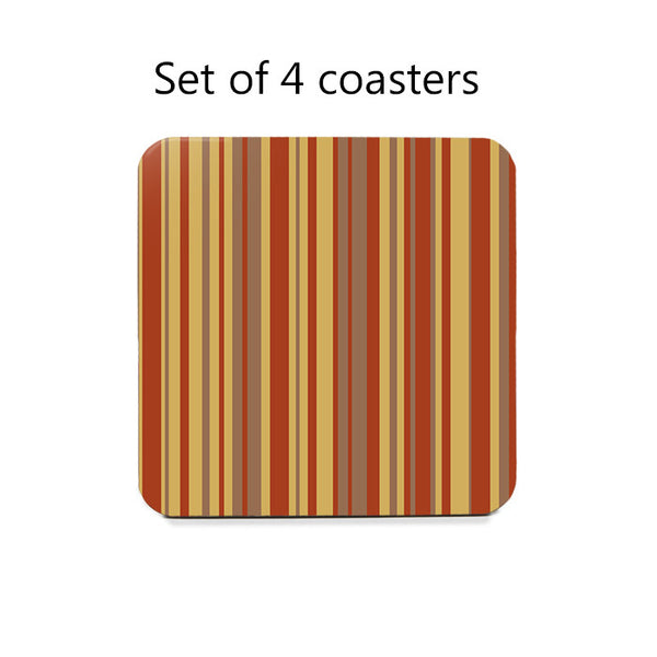 Fall Stripes Coaster Set