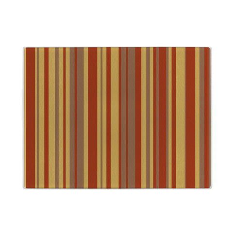 Fall Stripes Glass Cutting Board