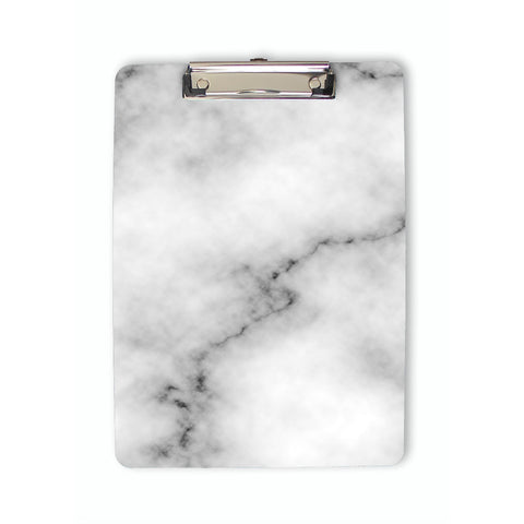 Faux White Marble Clipboard front