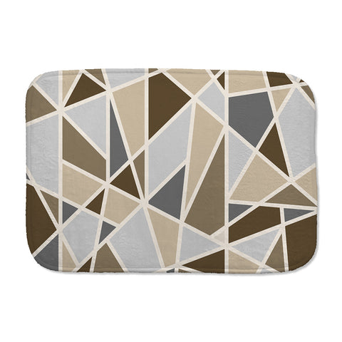Geometric Shapes Bath Mat in Brown