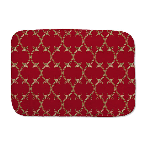 Moroccan Lattice Bath Mat in red