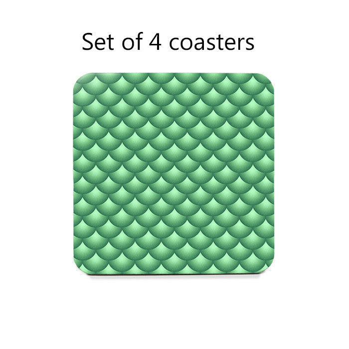 Scallops Coaster Set in green