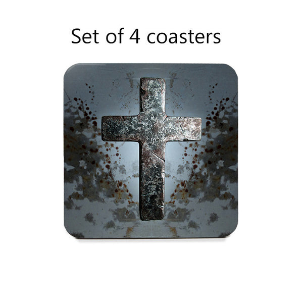 Grunge Cross Coaster Set