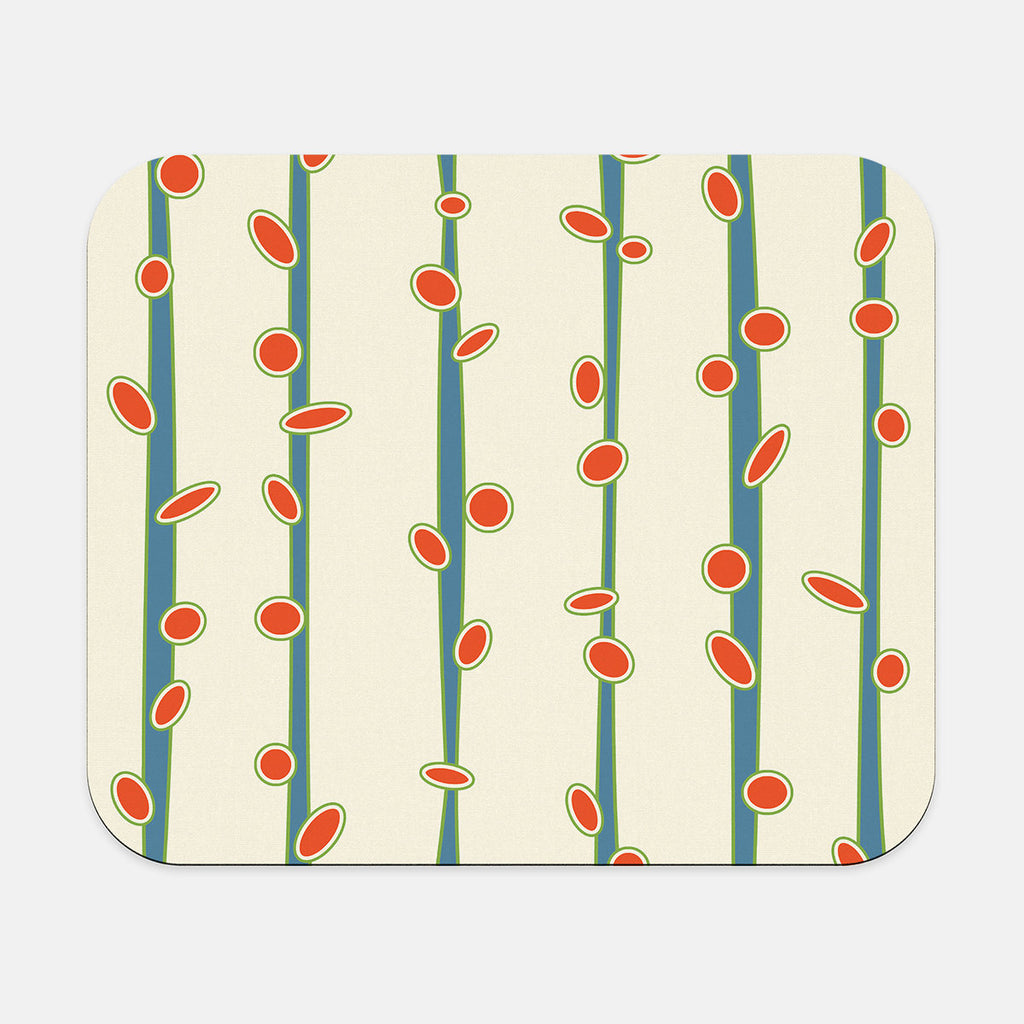 Mid Century Modern Mousepad, orange
