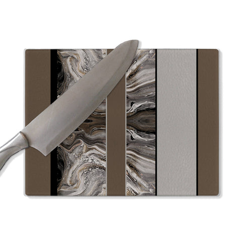 Marbled cutting board, tempered glass cutting board