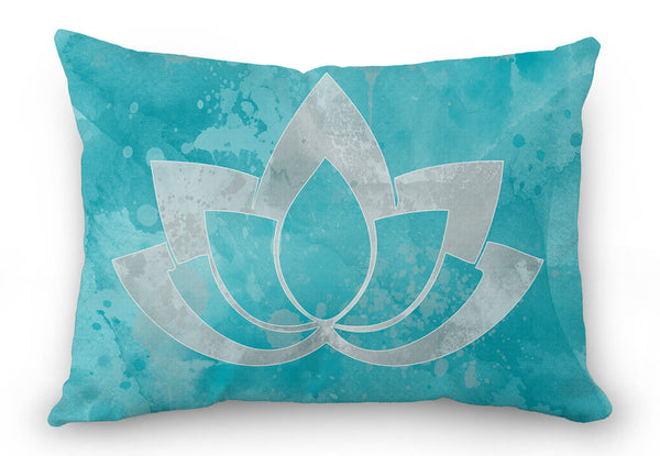 Bohemian Throw Pillow Cover, lotus throw pillow