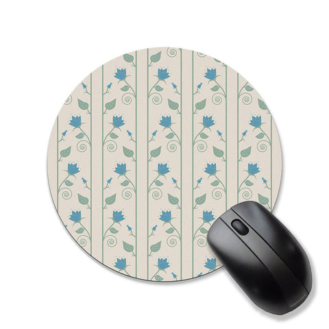Floral mouse pad, blue and sage green mousepad