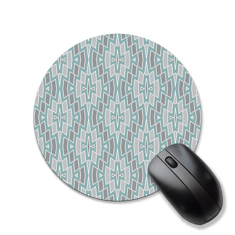 Tribal mouse pad, seafoam and gray mousepad