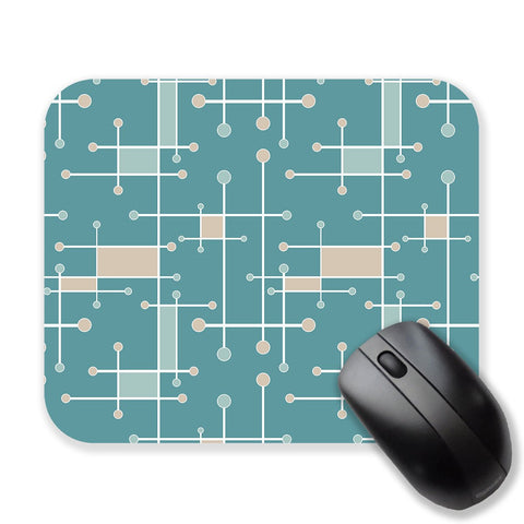 Geometric mouse pad, sea foam and turquoise