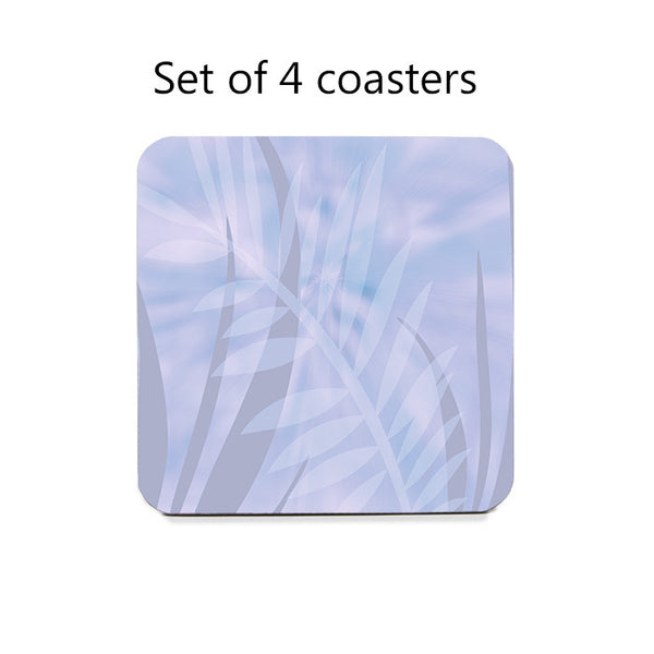 Tropical Leaves Coaster Set in 4 color schemes