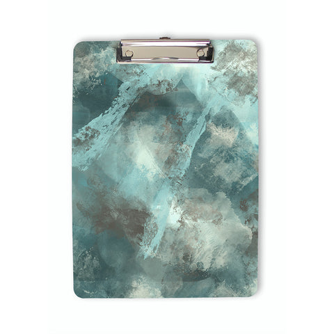 Abstract Stormy Art Clipboard in teal